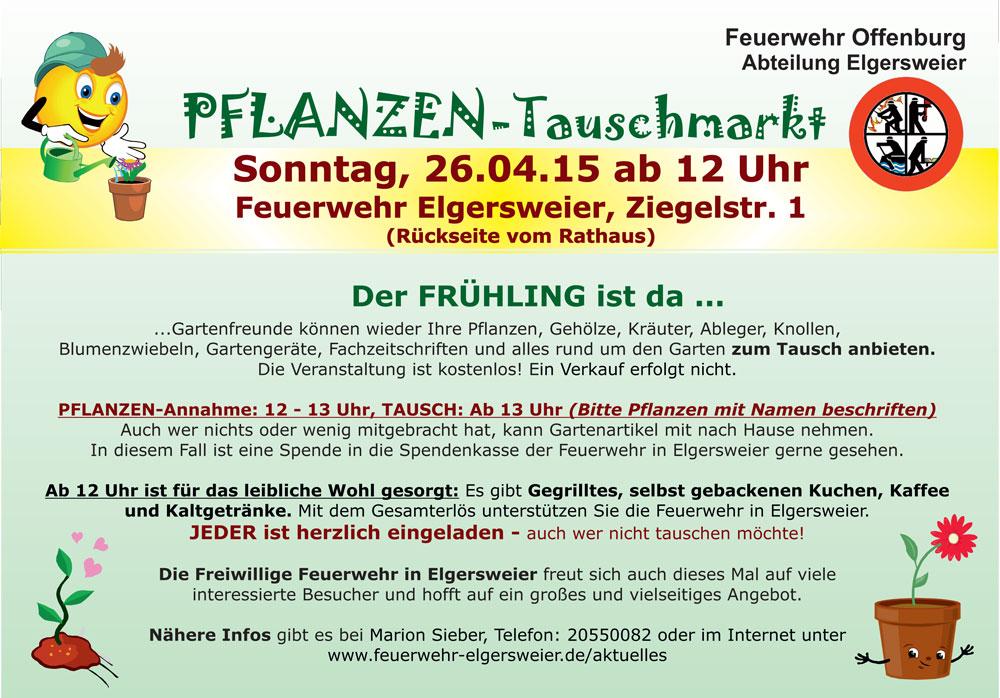 Pflanzentauschmarkt 2015 in Offenburg - Elgersweier
