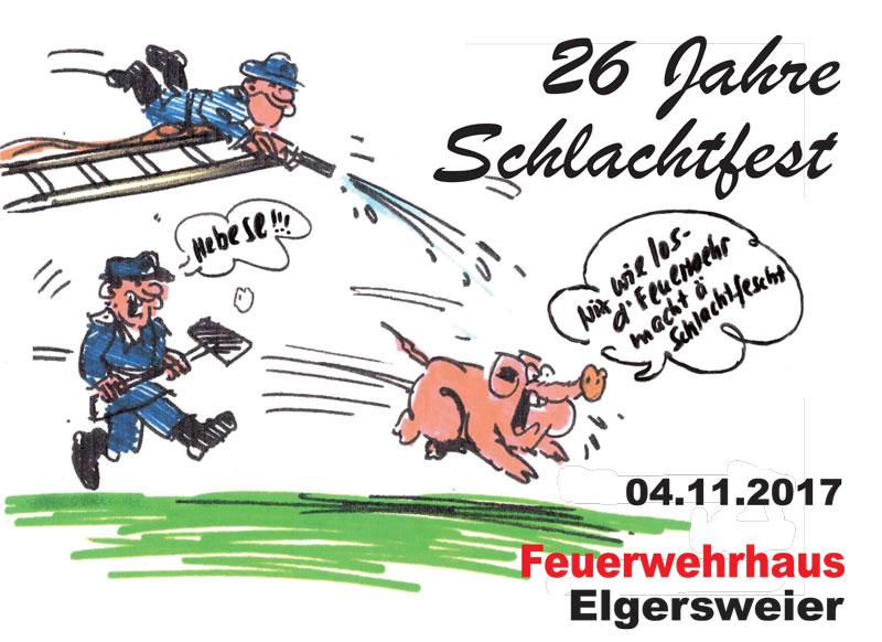 Schlachtfest der Feuerwehr Offenburg Einsatzabteilung Elgersweier am 4.11.2017