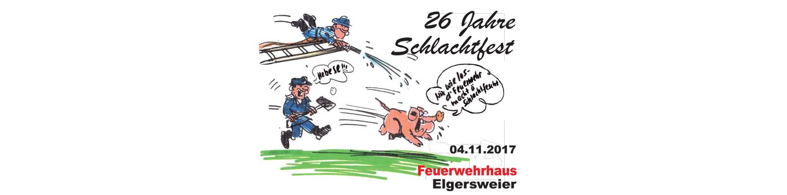 Schlachtfest der Feuerwehr in Elgersweier am 4.11.201