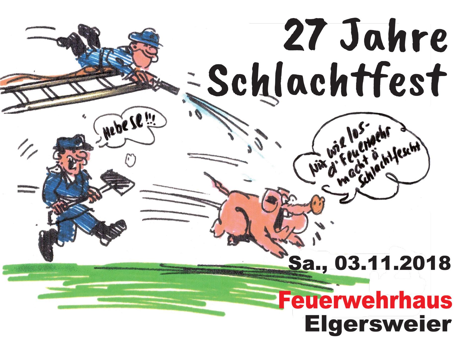 Schlachtfest der Feuerwehr in Elgersweier